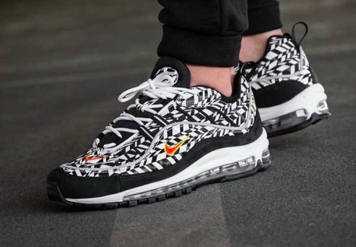 Get Ready For The Nike Air Max 98 All Over Print Black White