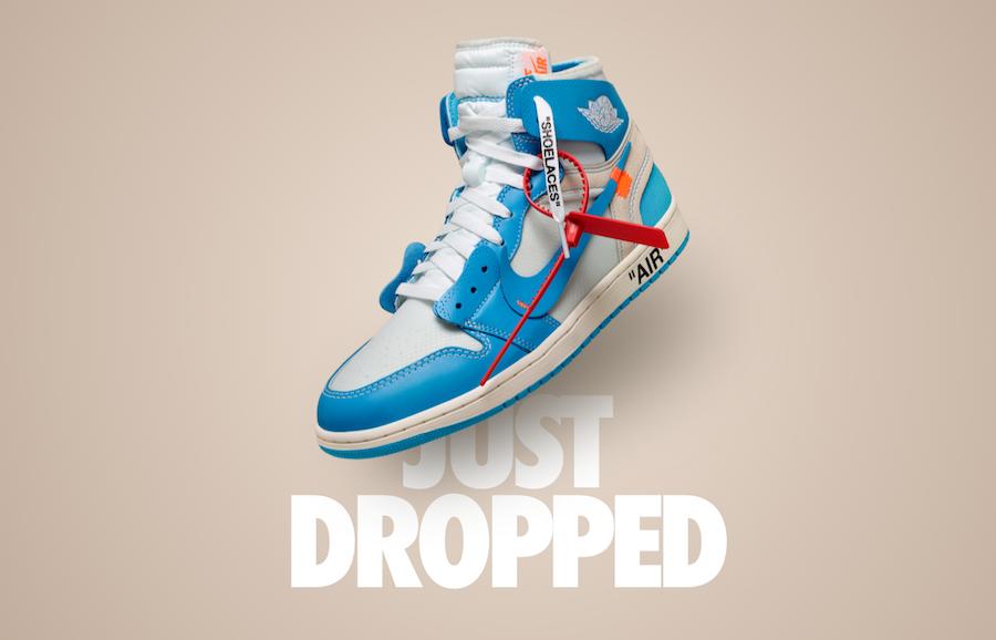 x Air Jordan 1 UNC Nike SNKRS Drop