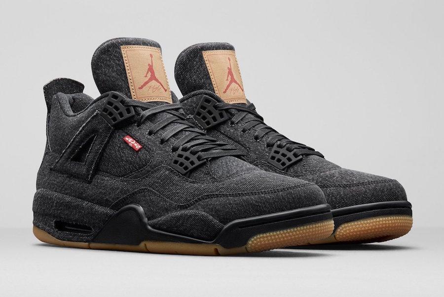 buy online 97941 e42d0 New Images Of The Levi's x Air Jordan 4 Black Denim ...