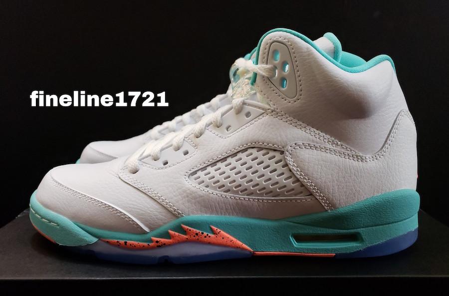 info for 842f5 57cd1 Air Jordan 5 GS Light Aqua • KicksOnFire.com