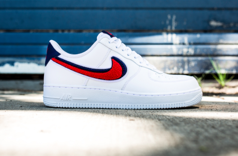 timeless design 625b0 9a74b This Nike Air Force 1 Low Chenille Swoosh Is Perfect For ...