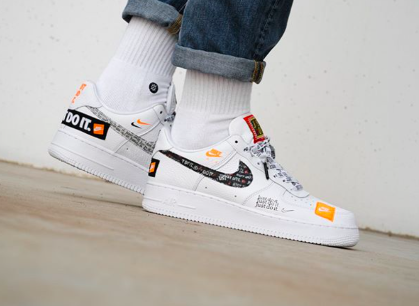 17b2f85ddfa Release Reminder: Nike Air Force 1 Low Premium Just Do It White ...