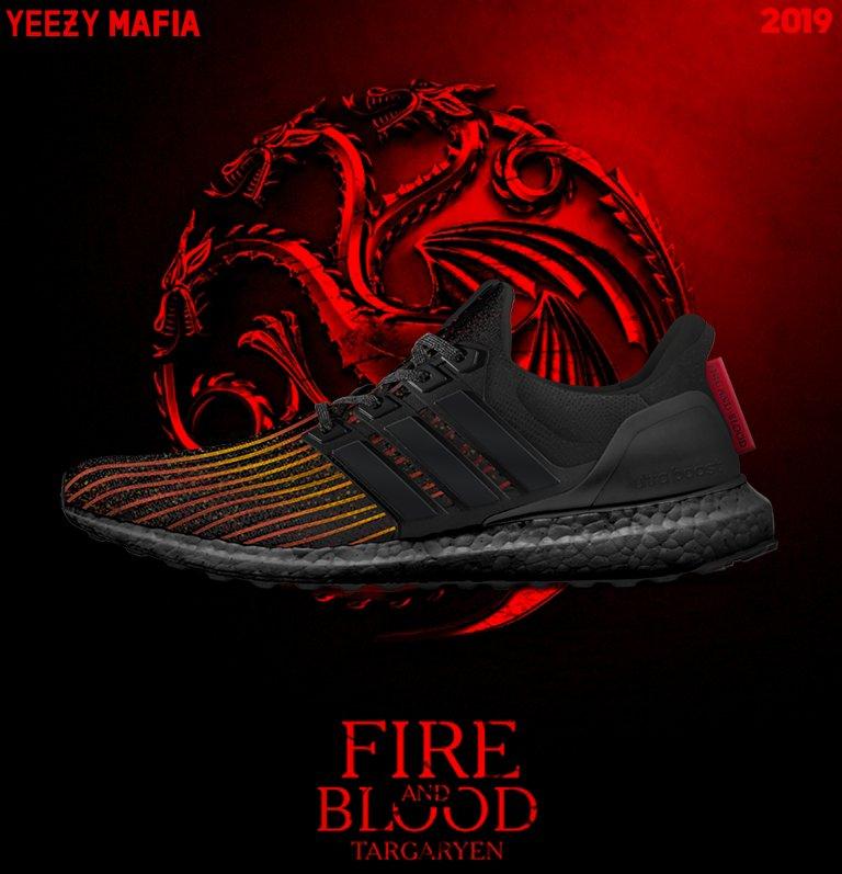 caja registradora orgánico Útil  Game Of Thrones x adidas Ultra Boost House Targaryen Dragons Dropping Next  Year • KicksOnFire.com