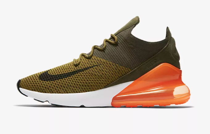 Now Available: Nike Air Max 270 Flyknit Olive Flak Total