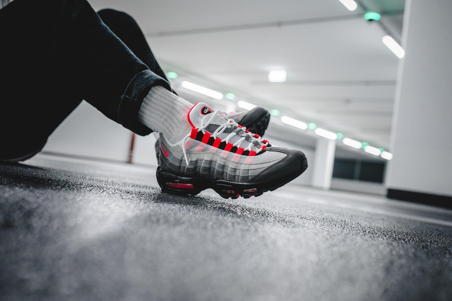 buy online 5c11d 4c2b8 Nike Air Max 95 Solar Red Arriving Next Week • KicksOnFire.com