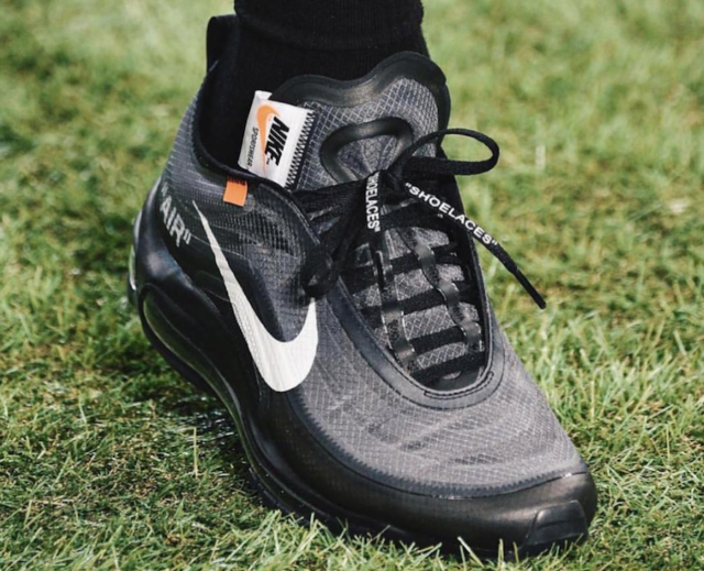 An On Feet Look At The Off White X Nike Air Max 97 Black