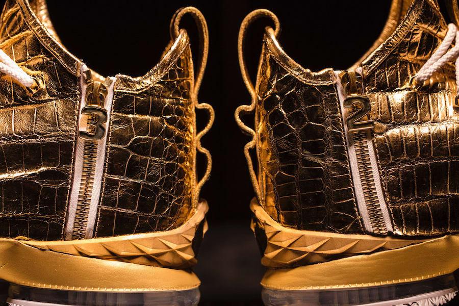 meet b5827 ba014 This 24 Karat Gold Nike LeBron 15 Is Worth $100,000 ...