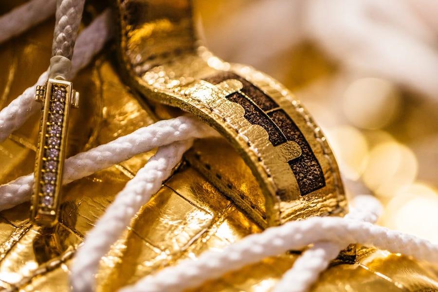 meet f9a75 5a904 This 24 Karat Gold Nike LeBron 15 Is Worth $100,000 ...
