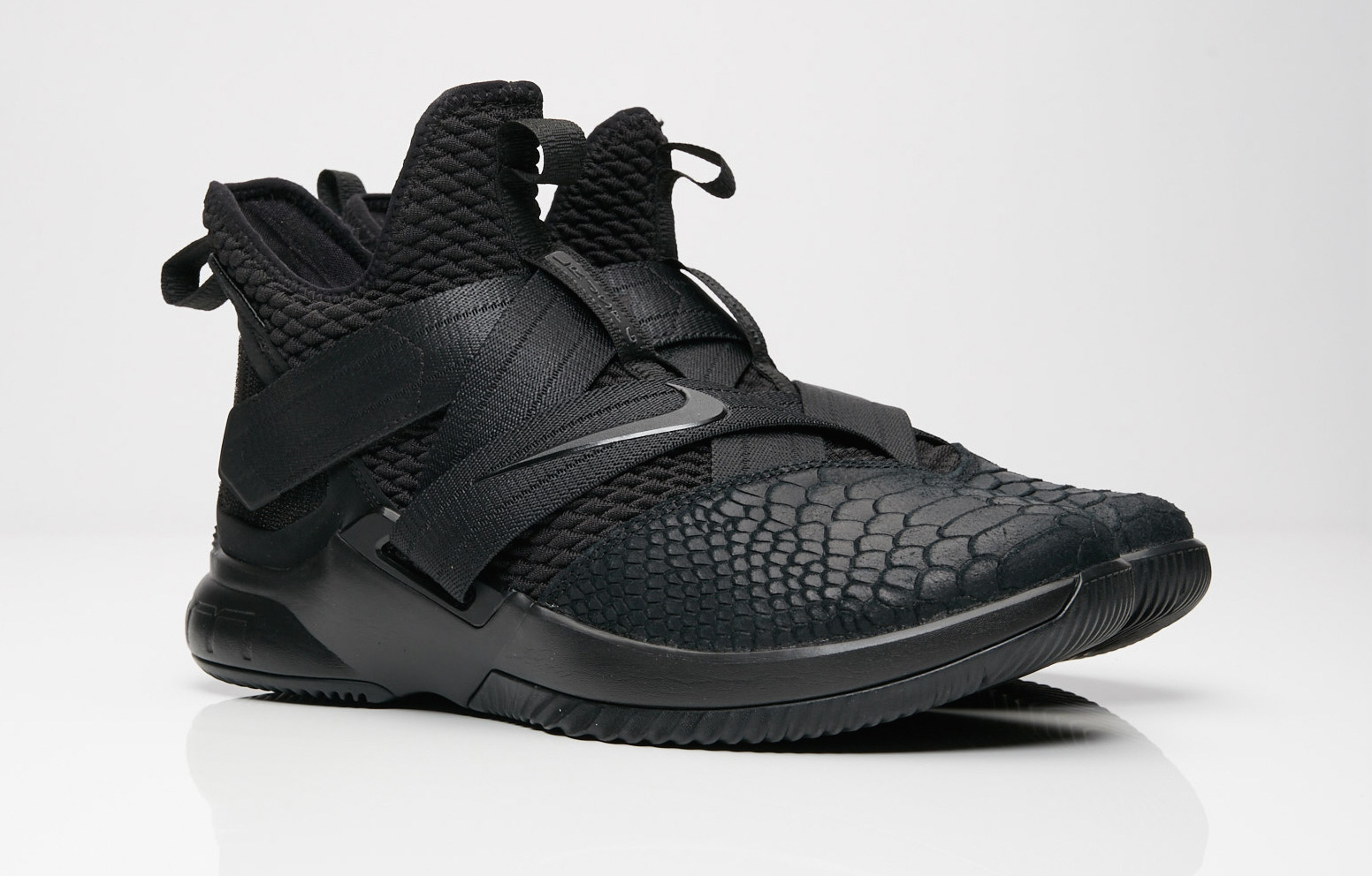 low priced 78991 a45aa Nike LeBron Soldier 12 Triple Black Arriving This Weekend ...