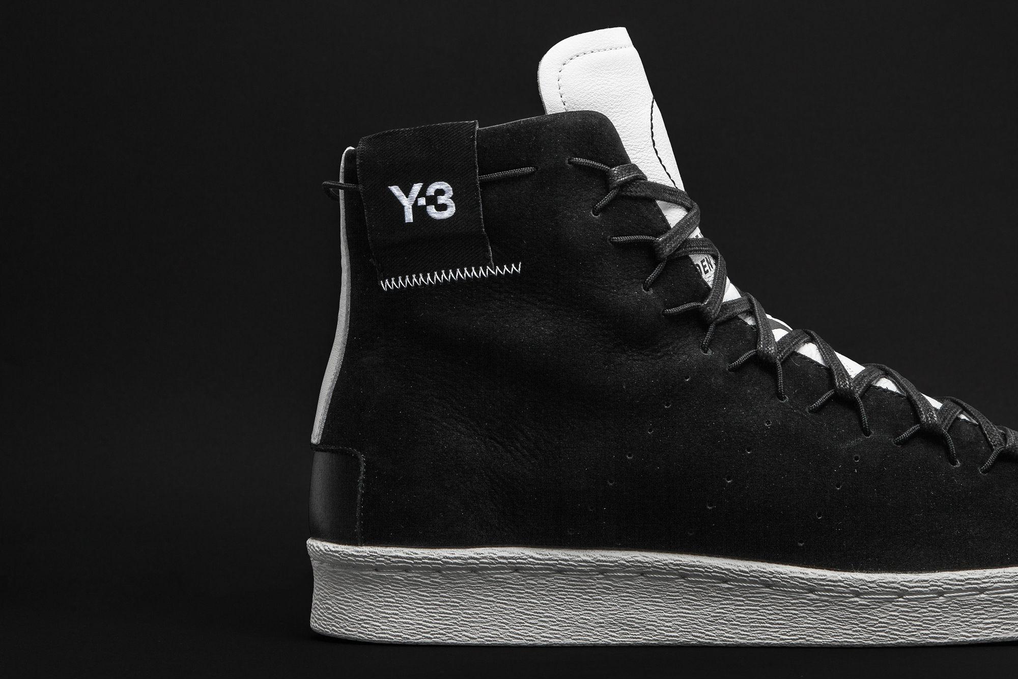 The adidas Y-3 Super High Black White
