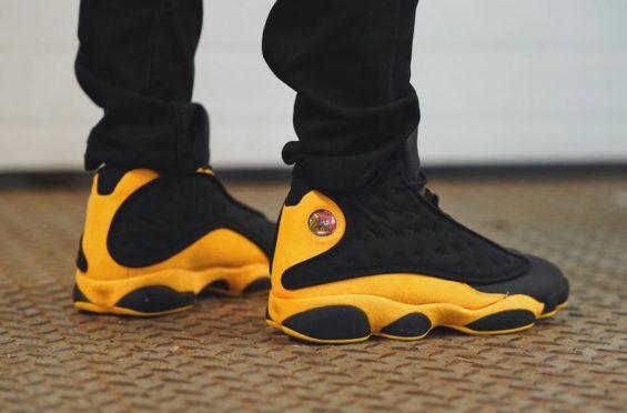 jordan retro 13 black and yellow Sale