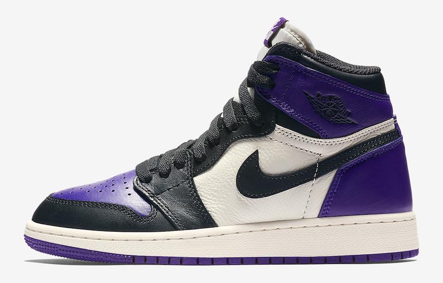Gs Retro Court In Sizes Air Jordan Og 1 High Purple Releasing tQshrd