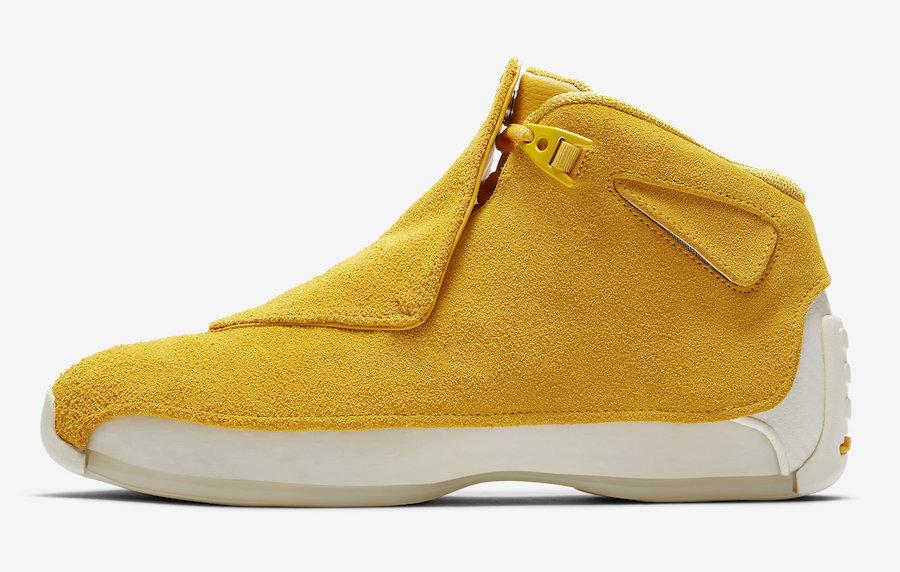 Air Jordan 18 Yellow Suede