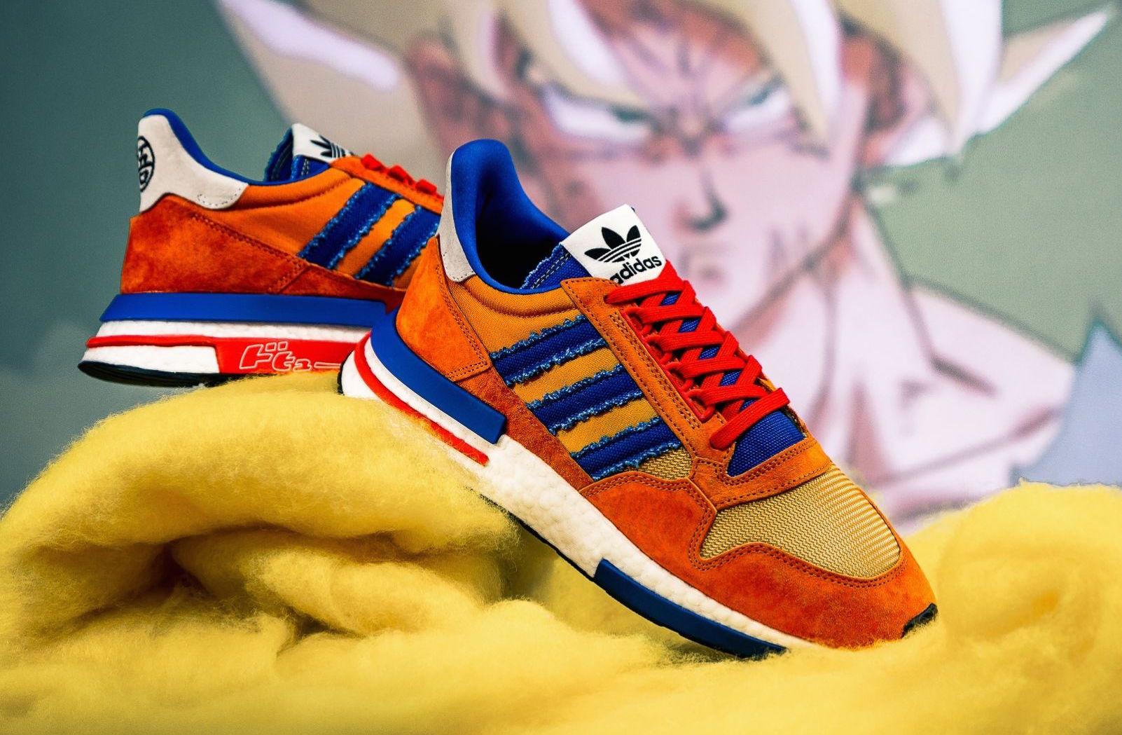 Excelente calidad mejores zapatos marcas reconocidas Dragon Ball Z x adidas ZX 500 RM Son Goku Arriving Later ...
