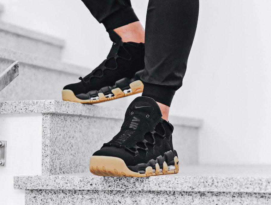 680f8230 Black And Gum Take Care Of This Nike Air More Money • KicksOnFire.com