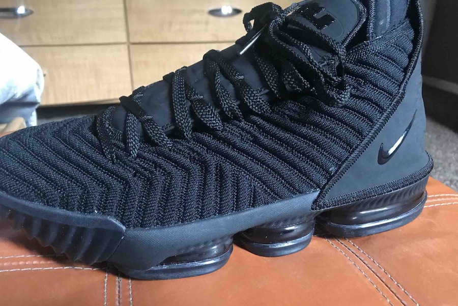 size 40 040af 453d3 Take A Look At The Nike LeBron 16 Triple Black • KicksOnFire.com