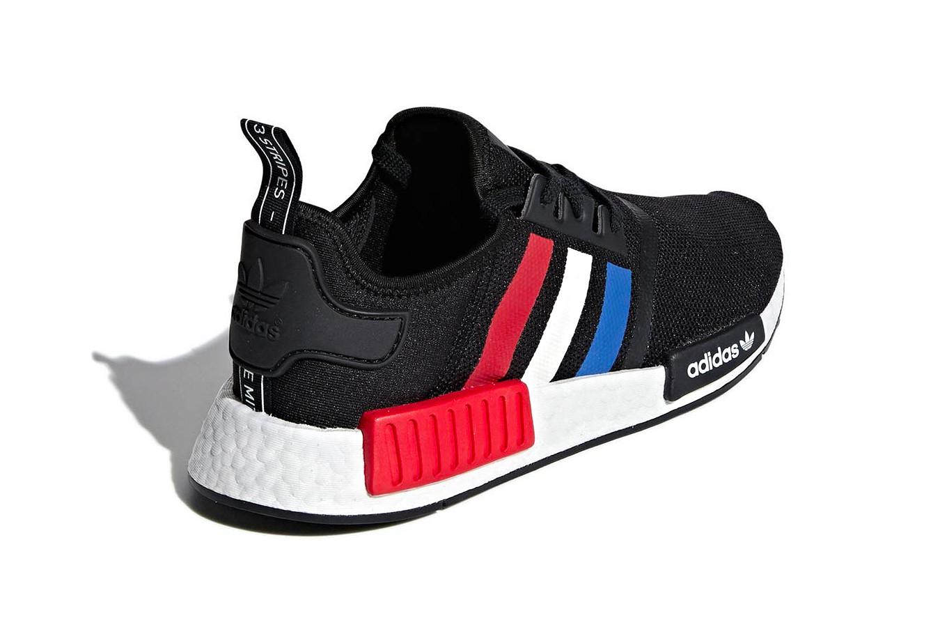 adidas nmd black red white