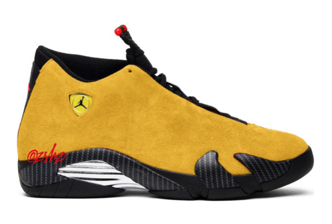 buy online 4bf25 7c20c Air Jordan 14 Yellow Ferrari Expected To Release On May 5th ...