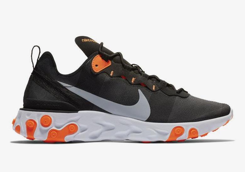 Nike React Element 55 Black Orange