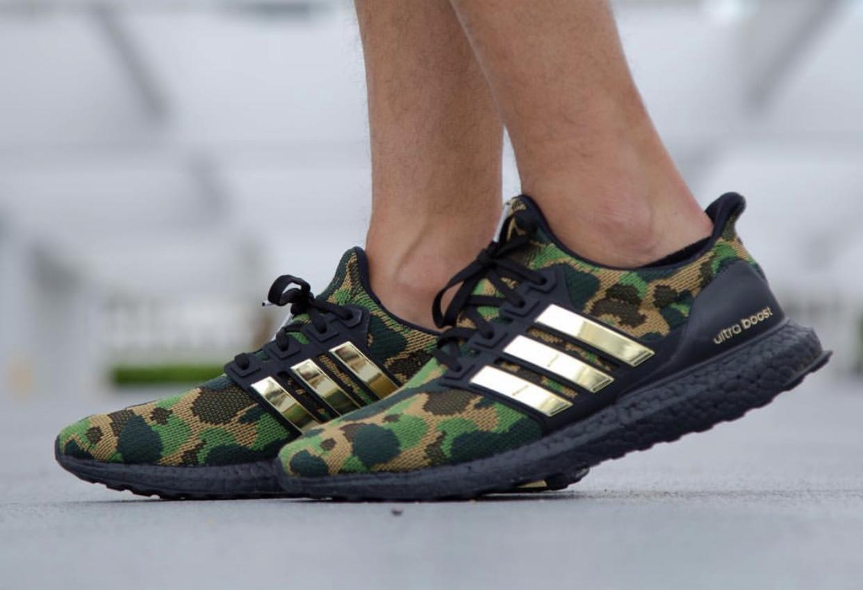 brand new 06a31 71150 On-Feet Look At The BAPE x adidas Ultra Boost • KicksOnFire.com