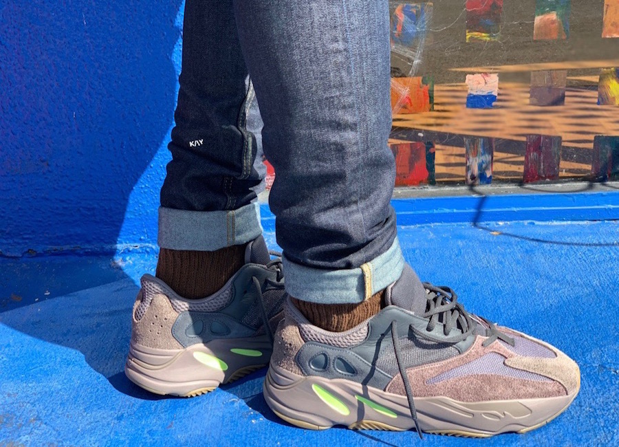 An On Foot Look At The adidas Yeezy Boost 700 'Mauve' | The