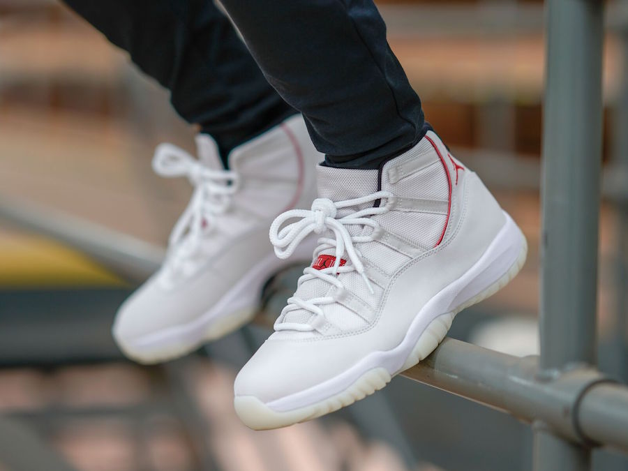 low priced 7dd5d 788a4 Here's How The Air Jordan 11 Platinum Tint Looks On-Feet ...