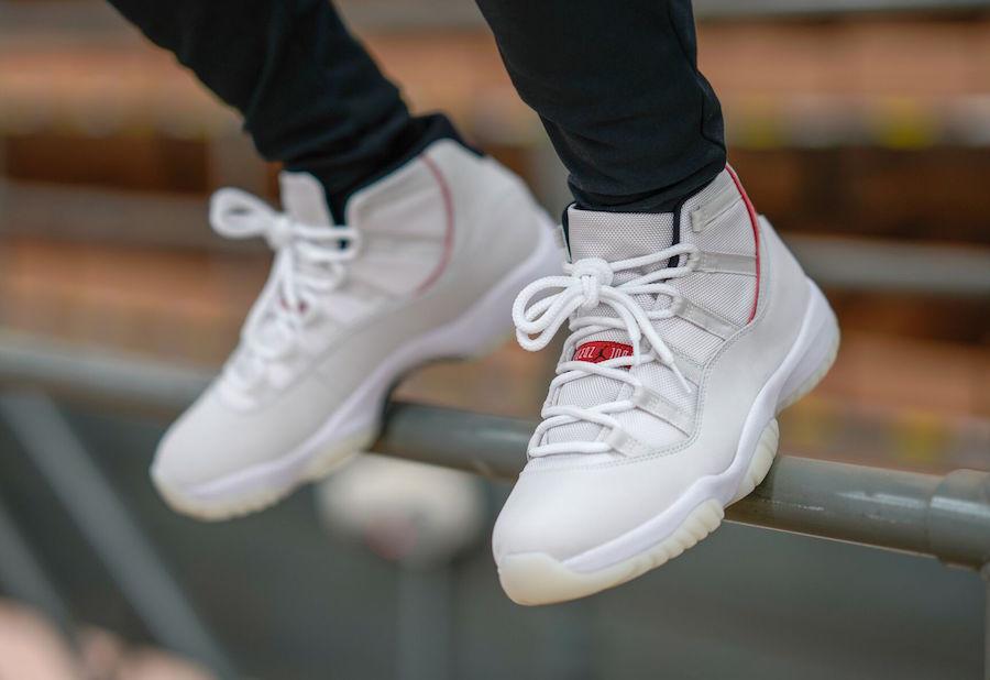 089a00e98d6 Here's How The Air Jordan 11 Platinum Tint Looks On-Feet ...