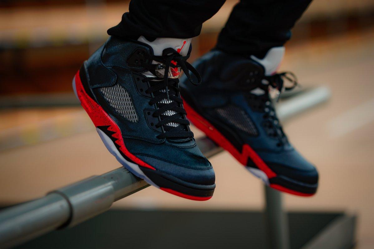 sports shoes 95a8b 7c576 Air Jordan 5 Satin Bred • KicksOnFire.com
