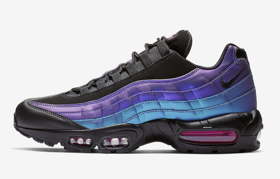 finest selection 28b9c eb6f4 Purple And Blue Come Together On This Nike Air Max 95 ...