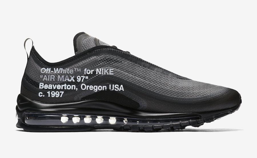 The OFF WHITE x Nike Air Max 97 Black Release Tomorrow Via