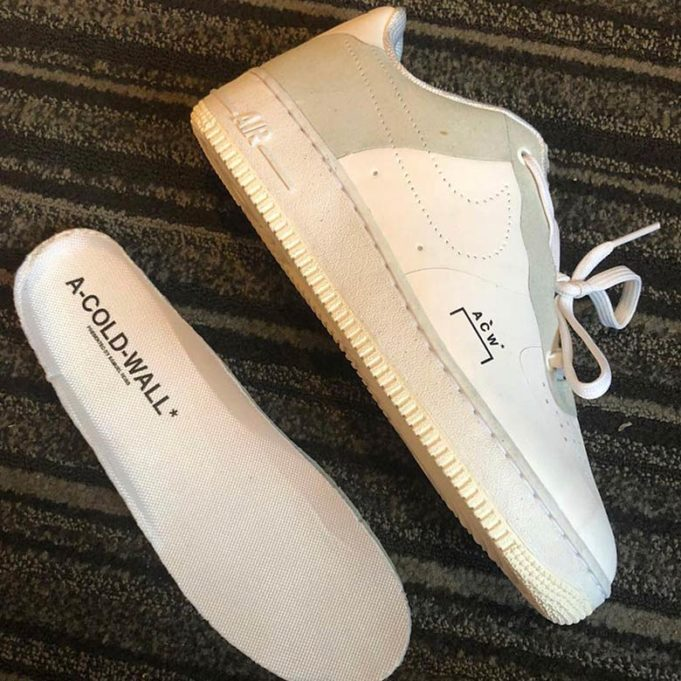 First Look: A COLD WALL x Nike Air Force 1 Low •
