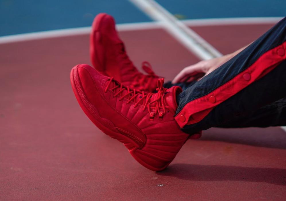 official photos d4f56 d3797 Air Jordan 12 Bulls (Gym Red) • KicksOnFire.com
