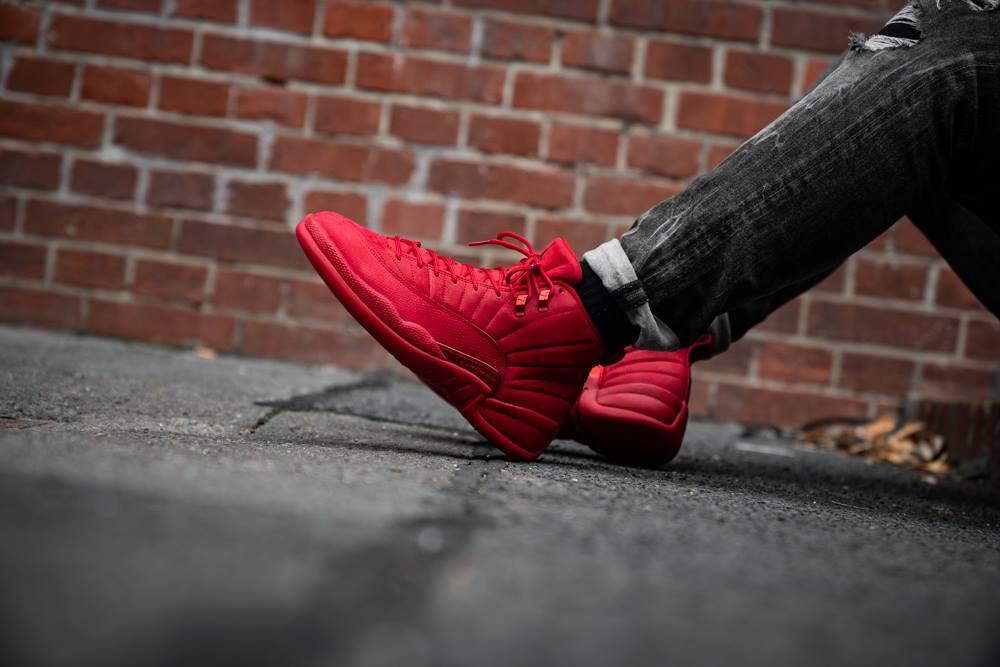 jordan 12 red outfit