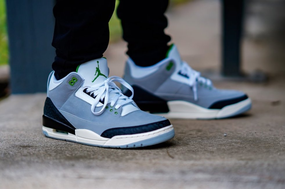 air jordan 3 retro gs chlorophyll
