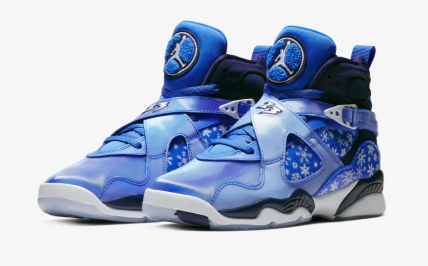 huge selection of 4df34 1bfe6 Air Jordan 8 GS Snowflake (Cobalt Blaze) • KicksOnFire.com