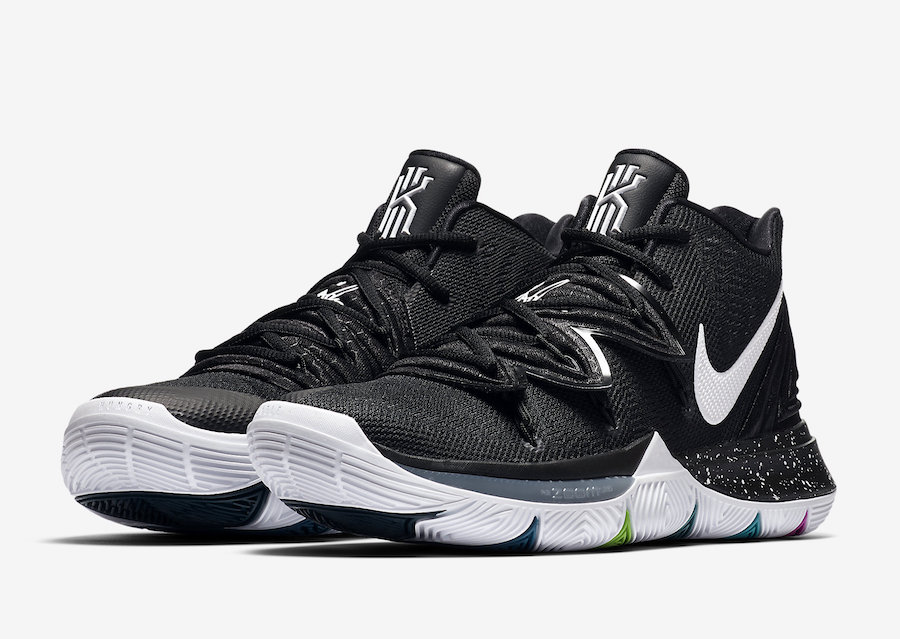 kyrie irving 5 black and white