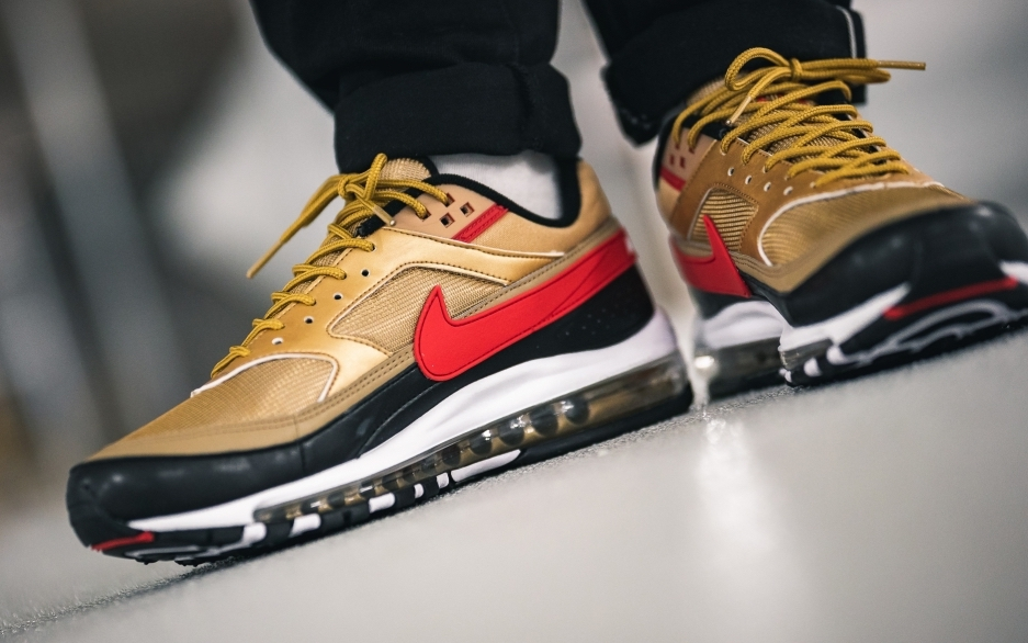 promo code 94a4e 20cd9 Nike Air Max 97/BW Metallic Gold University Red Arriving ...