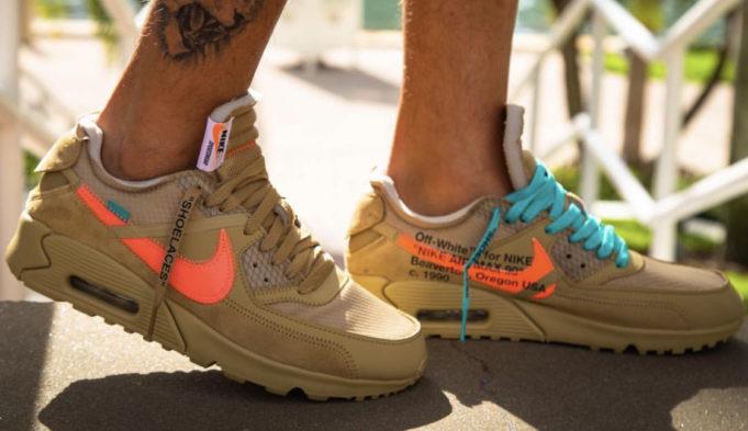 6f264cee718a34 Release Date: OFF-WHITE x Nike Air Max 90 Desert Ore • KicksOnFire.com