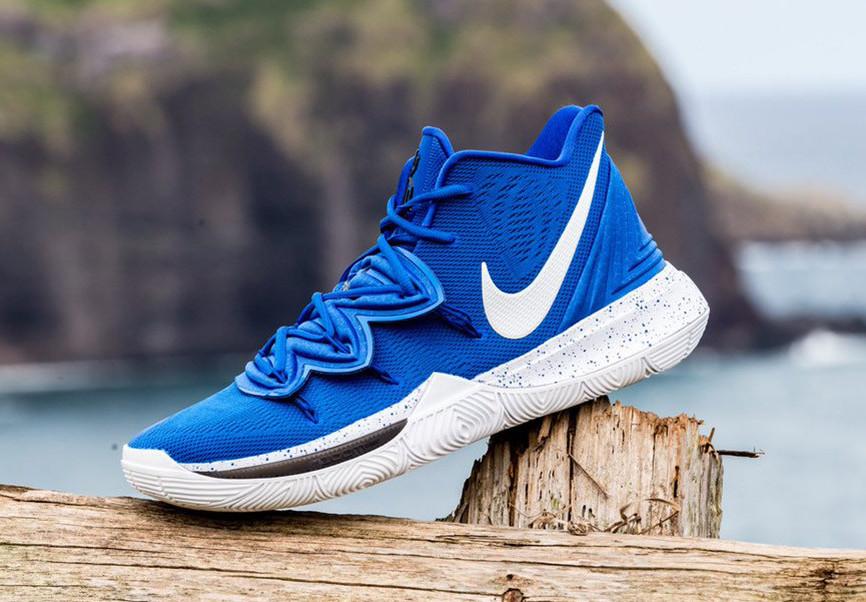 Three Nike Kyrie 5 Duke Blue Devils PE