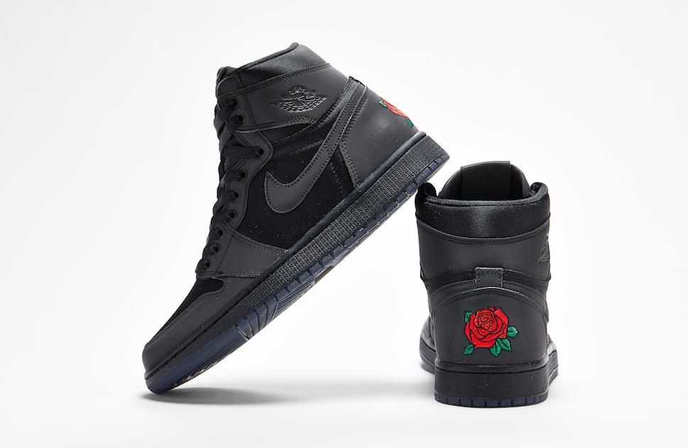 air jordan 1 retro noir et rose