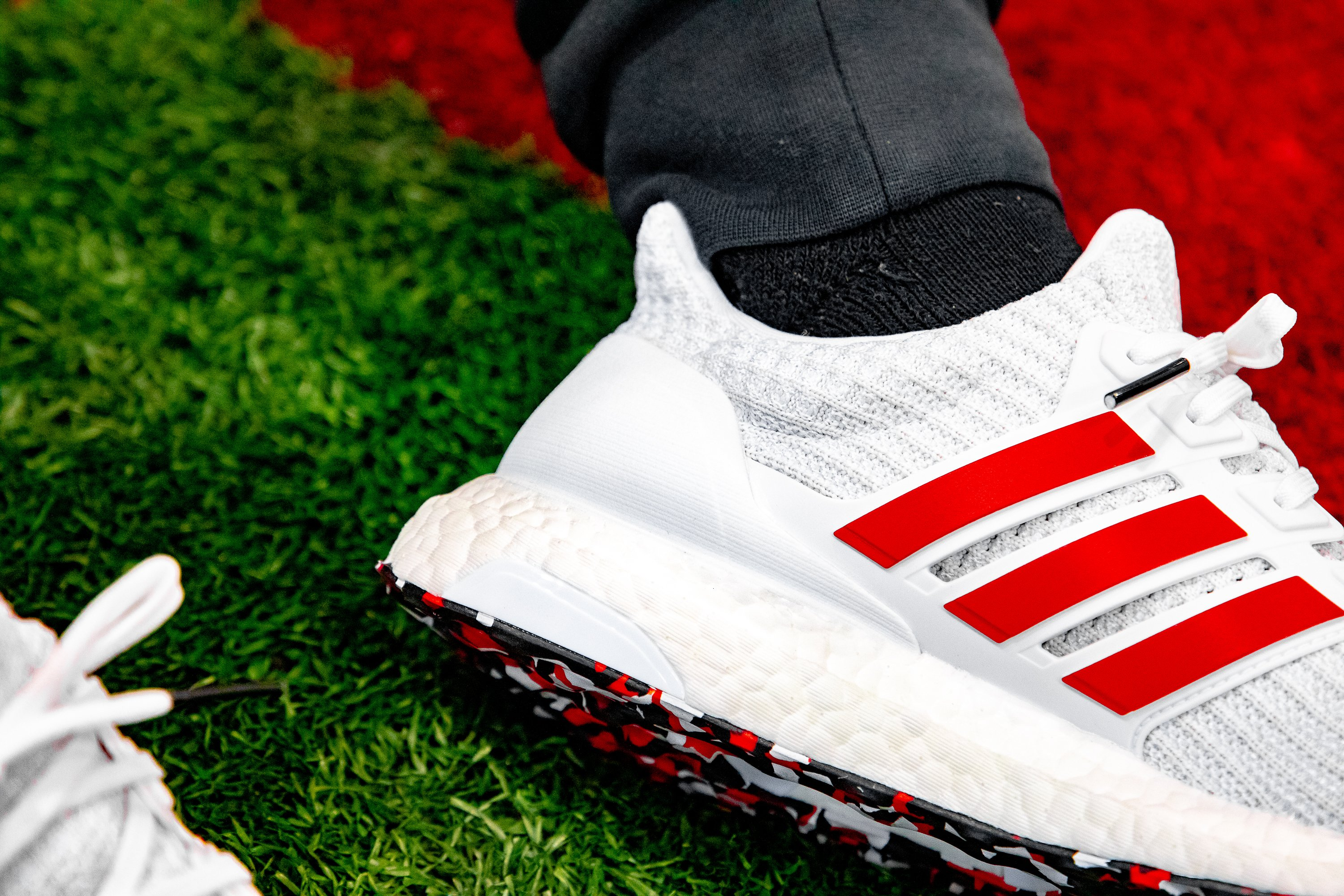 Get The adidas Ultra Boost 4.0 Red Stripes Here • KicksOnFire.com