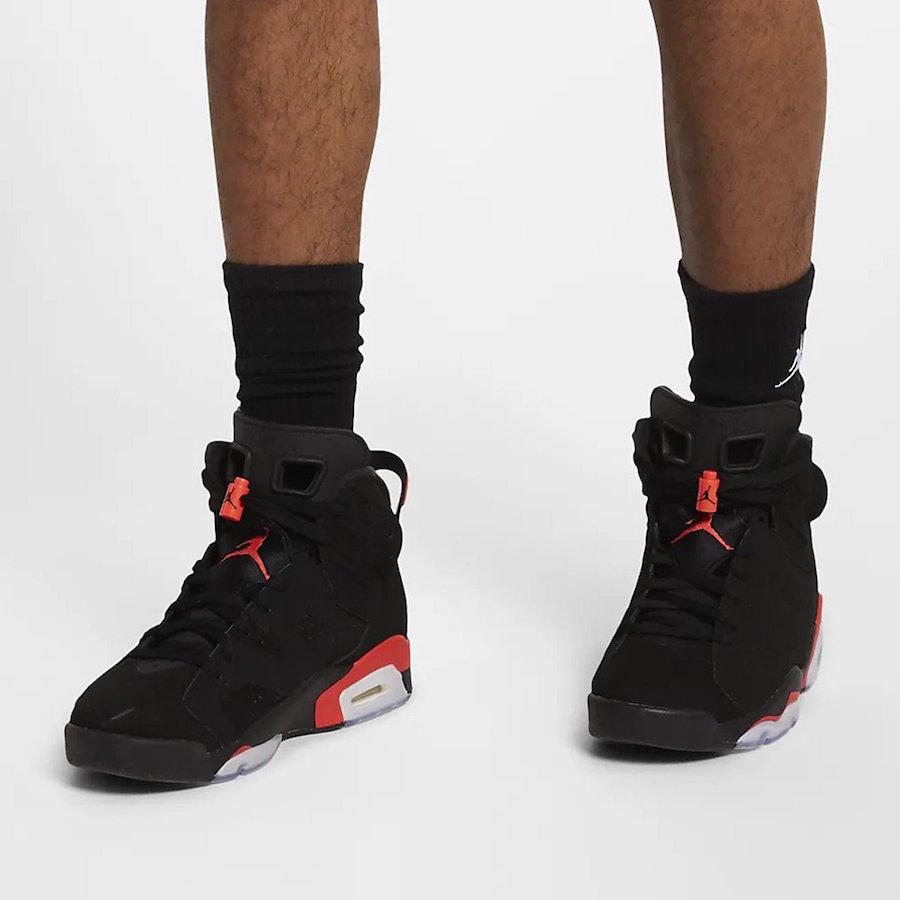 buy online 9f5da e304a On-Feet Images Of The Air Jordan 6 Black Infrared OG 2019 ...