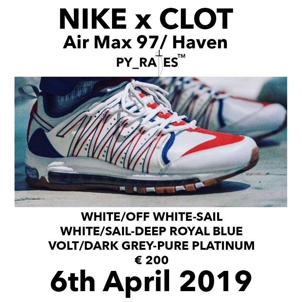 Release Date: CLOT x Nike Air Max 97Haven •