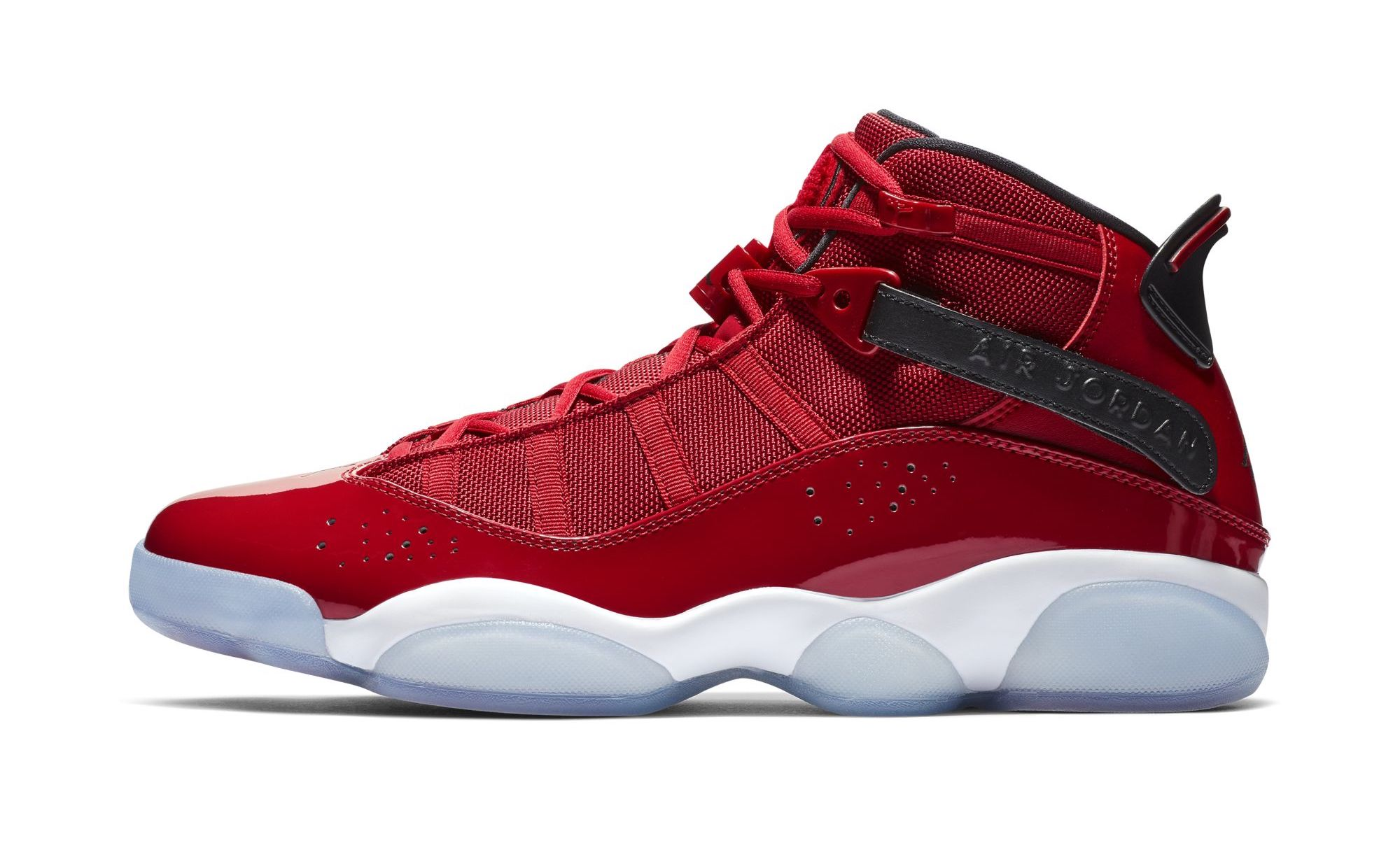 outlet store 5be79 7fe53 The Jordan 6 Rings is back in more colorways to start off 2019, and it s  coming in a University Red White theme. The style mixes elements from the  Air ...