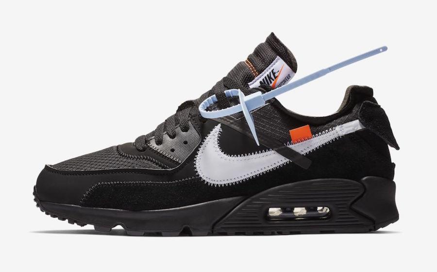 Official Images: OFF-WHITE x Nike Air Max 90 Black • KicksOnFire.com
