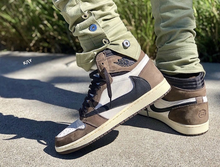 quality design 94931 f5bf0 On-Feet Look At The Travis Scott x Air Jordan 1 Retro High ...