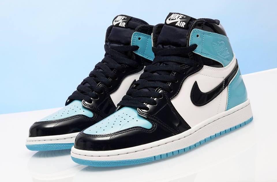 size 40 35b26 7243f Air Jordan 1 WMNS Retro High OG UNC Patent (Blue Chill ...