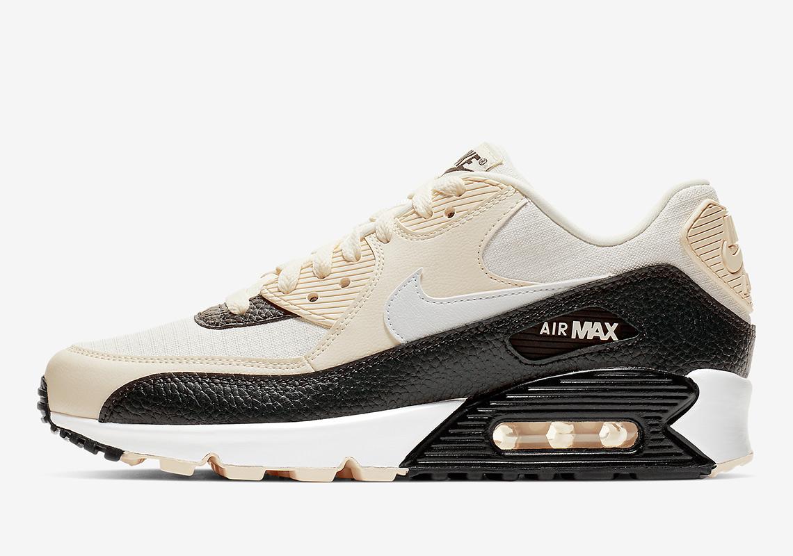 Black Tumbled Leather Hits This Nike Air Max 90 • KicksOnFire.com