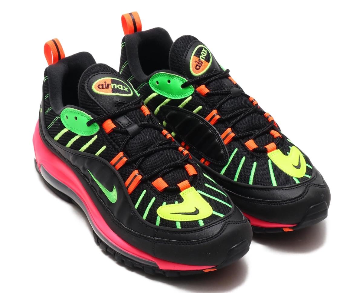 2e8cd20b Bright Colors Highlight The Nike Air Max 98 Tokyo Neon • KicksOnFire.com