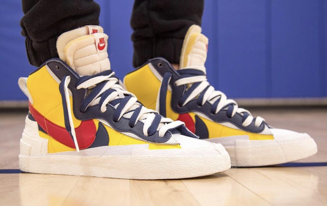 sacai x Nike Blazer Mid Varsity Maize